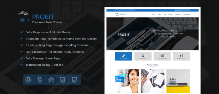 Probit-Free-WordPress-Theme