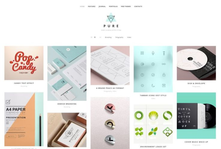 Pure-Free-Portfolio-WordPress-Theme